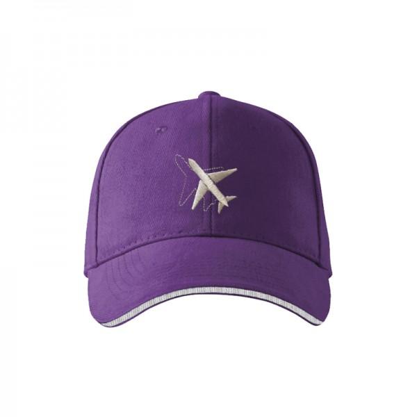 "Кепка ""Самолёт"", AVIAMERCH™, цвет: фиолетовый"