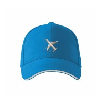 "Кепка авиационная ""Самолёт"", AVIAMERCH™, цвет: голубой"