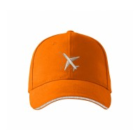 "Кепка авиационная ""Самолёт"", AVIAMERCH™, цвет: оранжевый"