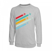 Свитшот Planes, цвет: серый меланж, AVIAMERCH™