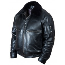 Куртка пилот Top Gun 2 black natural Art.123, Airborne Apparel™