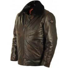 Лётная кожаная куртка шевретка Art.350, Airborne Apparel™