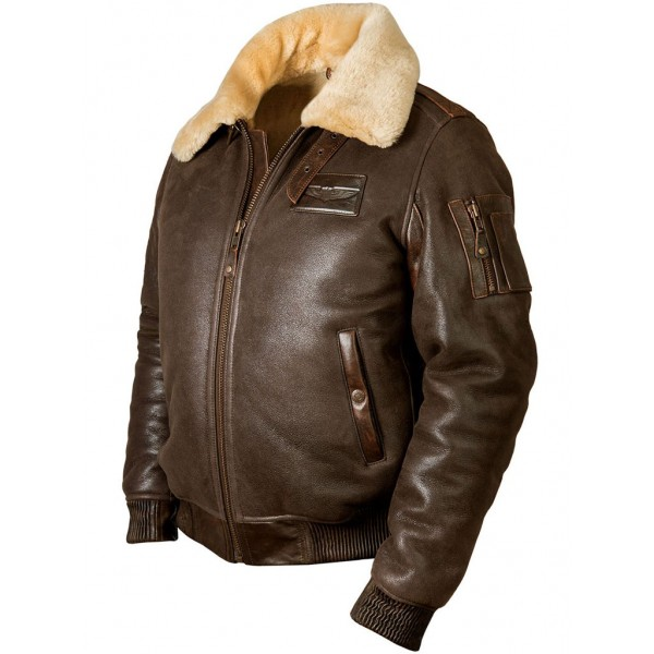 "Куртка-бомбер из овчины ""Fast Eagle B-15"" Art.207, Airborne Apparel™"