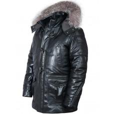 Куртка пуховик Аляска кожаная Балто Art.510, Airborne Apparel™