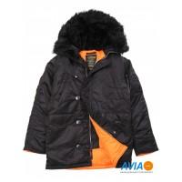 Куртка Slim Fit N-3B Parka чёрная Alpha Industries™