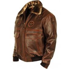 "Куртка - бомбер ""Top Gun Jolly Rogers"" brown Airborne Apparel™"