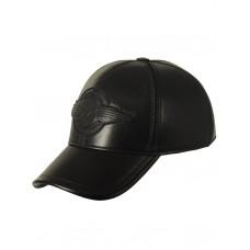 Кепка кожаная ROUTE 66 black, Art.36, Airborne Apparel™