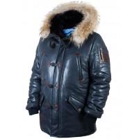 Куртка Аляска кожаная North Pole 94 blue Art.515, Airborne Apparel™