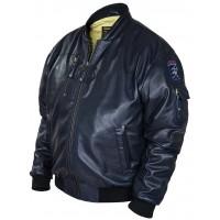 Куртка бомбер из кожи перфорированной Art.316, Airborne Apparel™