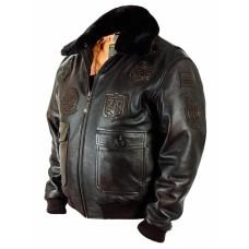 Куртка - бомбер Top Gun Navy G-1 brown Art.122, Airborne Apparel™