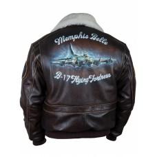 Куртка лётная с аэрографией B17 Memphis Belle Art.352, Airborne Apparel™