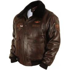 "Куртка - бомбер ""Type G-1 Wolves"" brown Airborne Apparel™. Art.331"