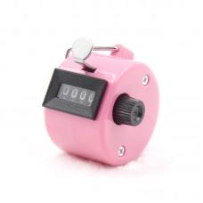 Счётчик механический ручной, розовый