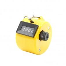 Счётчик механический ручной, жёлтый