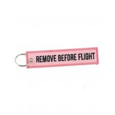 "Брелок ""Remove Before Flight"" pink"