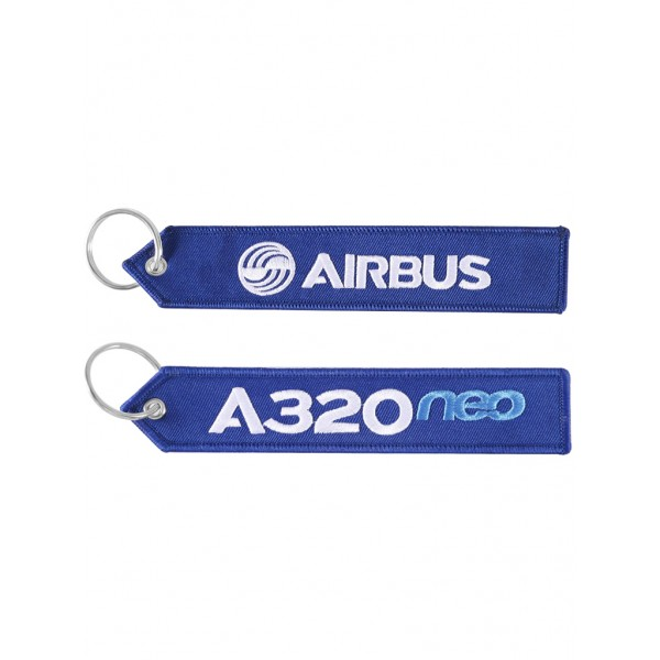 """Брелок """"Airbus A320 neo"""" blue"""