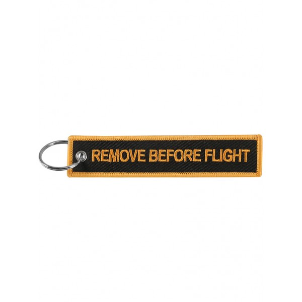 "Брелок ""Remove Before Flight"" gold-black"