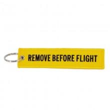 Брелок Remove Before Flight, yellow-black