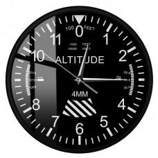 Часы настенные в виде высотомера, круглые