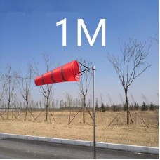 Ветроуказатель - конус 1 м, цвет: красный со светоотражающими полосками