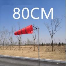 Ветроуказатель - конус 80 cм, цвет: красный со светоотражающими полосками