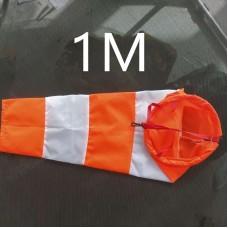 Ветроуказатель - конус 1 м, цвет: оранжево-белый