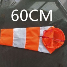 Ветроуказатель - конус 60 см, цвет: оранжево-белый