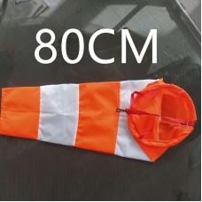 Ветроуказатель - конус 80 см, цвет: оранжево-белый