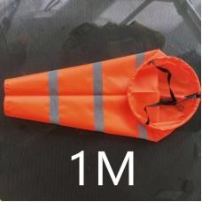 Ветроуказатель - конус 1 м, цвет: оранжевый со светоотражающими полосками