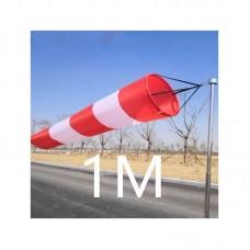 Ветроуказатель - конус 1 м, цвет: красно-белый