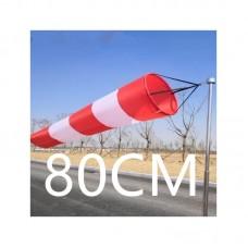 Ветроуказатель - конус 80 см, цвет: красно-белый