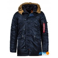 Куртка Slim Fit N-3B Parka синяя Alpha Industries™