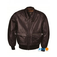 Куртка кожаная A-2 Leather jacket, brown, Alpha Industries™