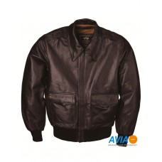 Куртка кожаная A-2 Leather jacket, brown, Alpha Industries™
