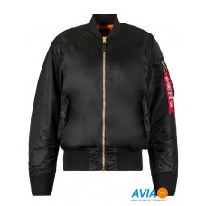 Куртка MA-1 Flight Jacket чёрная Alpha Industries™
