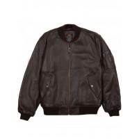 Куртка кожаная MA-1 Leather jacket, brown, Alpha Industries™