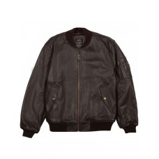Куртка кожаная MA-1 Leather jacket, brown, Alpha Industries™