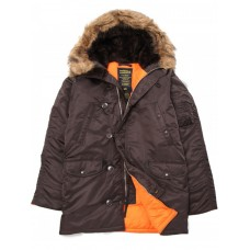 Куртка Slim Fit N-3B Parka, deep brown, Alpha Industries™