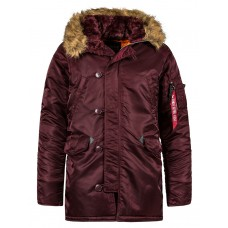 Куртка Slim Fit N-3B Parka, maroon, Alpha Industries™