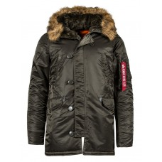 Куртка Slim Fit N-3B Parka, replica grey, Alpha Industries™