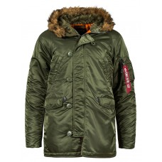 Куртка Slim Fit N-3B Parka, sage, Alpha Industries™