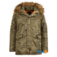 Куртка Slim Fit N-3B Parka, vintage olive, Alpha Industries™