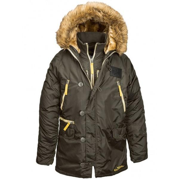 Куртка N-3B Inclement parka, replica grey, Alpha Industries™