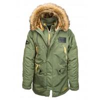 Куртка N-3B Inclement parka, sage, Alpha Industries™