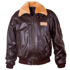 Leather Bomber Jacket Aviator