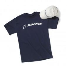 Комплект Boeing™ кепка и футболка, цвет: тёмно-синий-бежевый