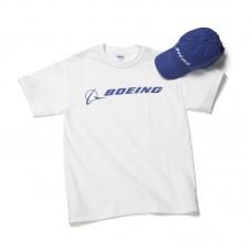 Комплект Boeing™ кепка и футболка, цвет: белый-синий