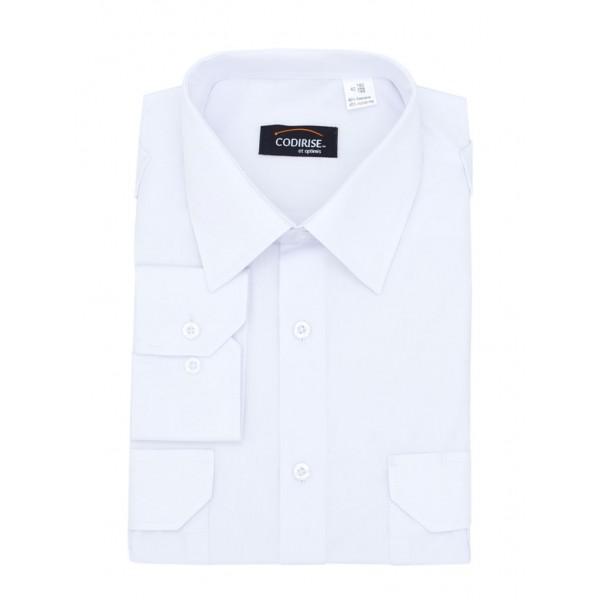 """Рубашка форменная с длинным рукавом белая """"Lux long"""" CODIRISE™"""