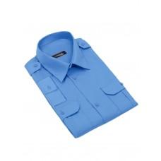 """Рубашка (сорочка) форменная с длинным рукавом на поясе синяя """"Standart long"""" CODIRISE™"""