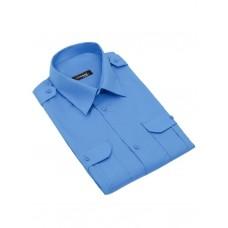 """Рубашка (сорочка) форменная с коротким рукавом на поясе синяя  """"Standart short"""" CODIRISE™"""